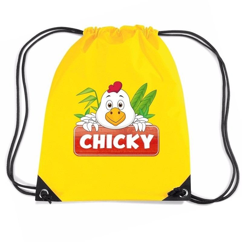 8a76052d97c Chicky de Kip rugtas / gymtas geel voor kinderen - de officiële ...