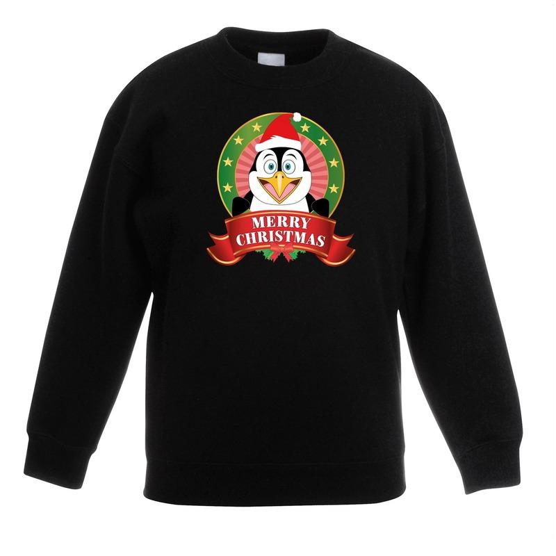 Kersttrui Meisje.Kersttrui Met Een Pinguin Zwart Jongens En Meisjes De Officiele
