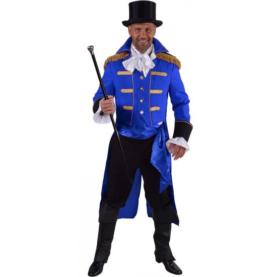 Luxe circus jas blauw voor heren