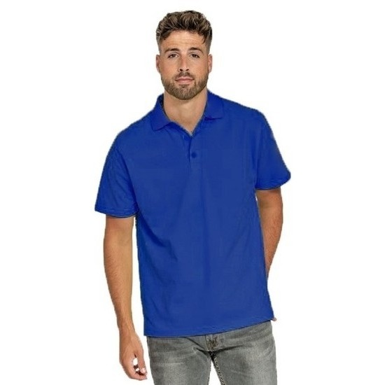 Poloshirt kobalt blauw