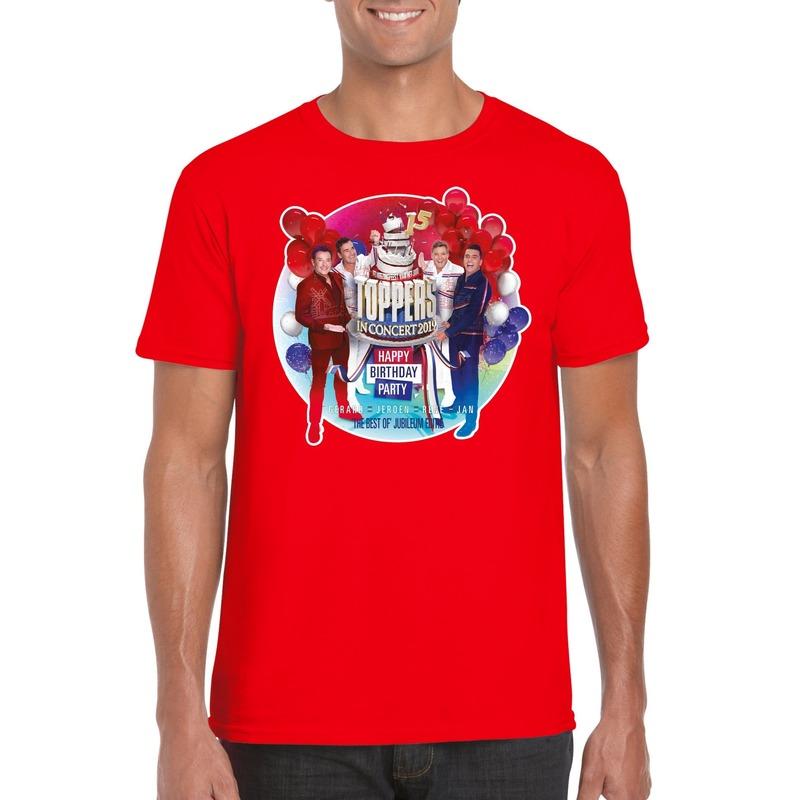Rood Toppers in concert 2019 officieel t-shirt heren